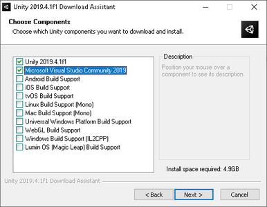 Download Unity Game Engine & Microsoft Visual Studio