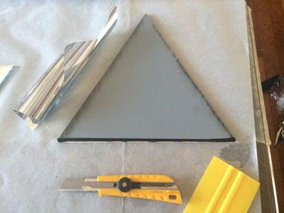 Adding Reflective Film to the Mirror Finish Acrylic.