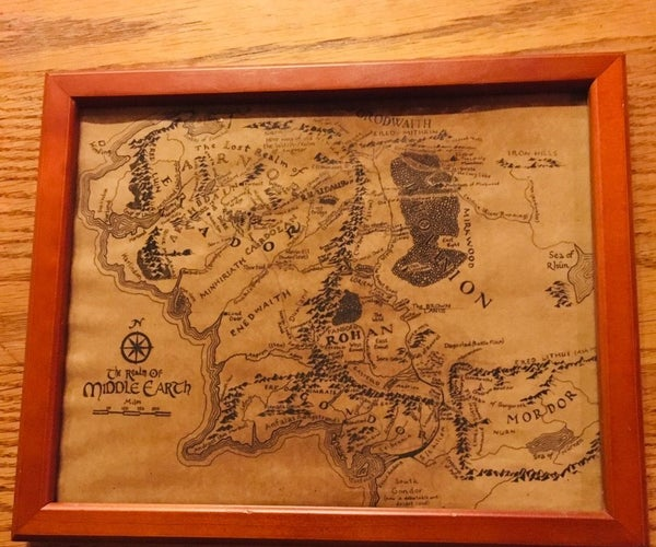 Coffee-Antiqued Map