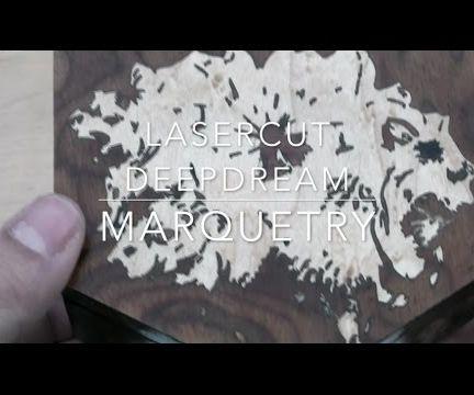 Lasercut DeepDream Marquetry