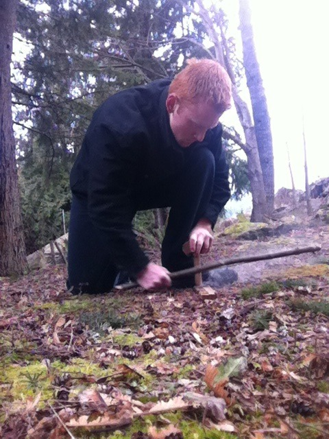 Fire From A Primitive Bow Drill