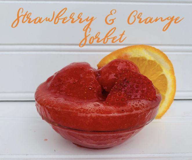 DELICIOUS Strawberry & Orange Sorbet