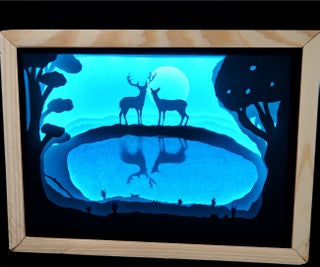 Paper Cut Light Box