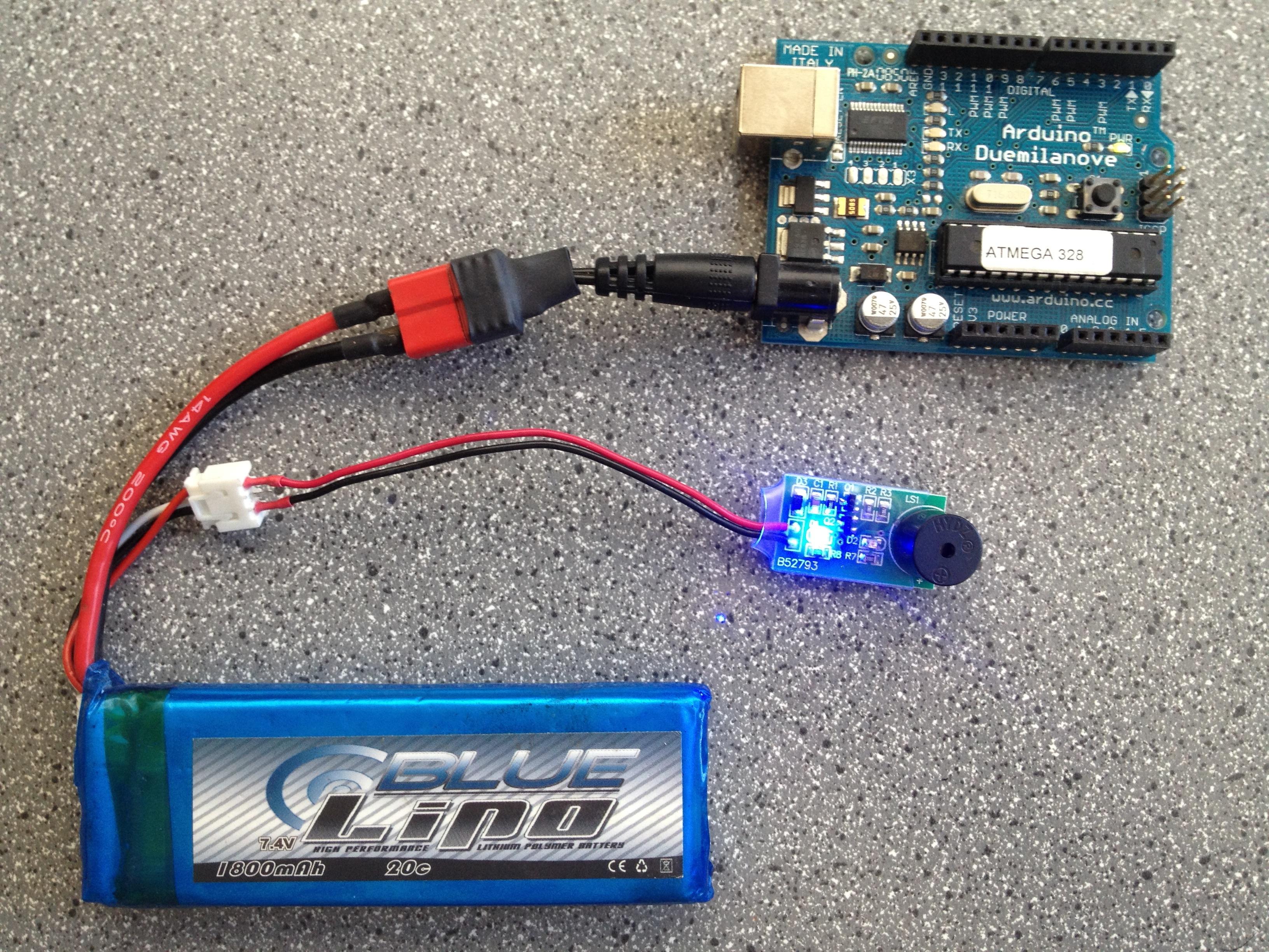 LiPo-Powered Arduino