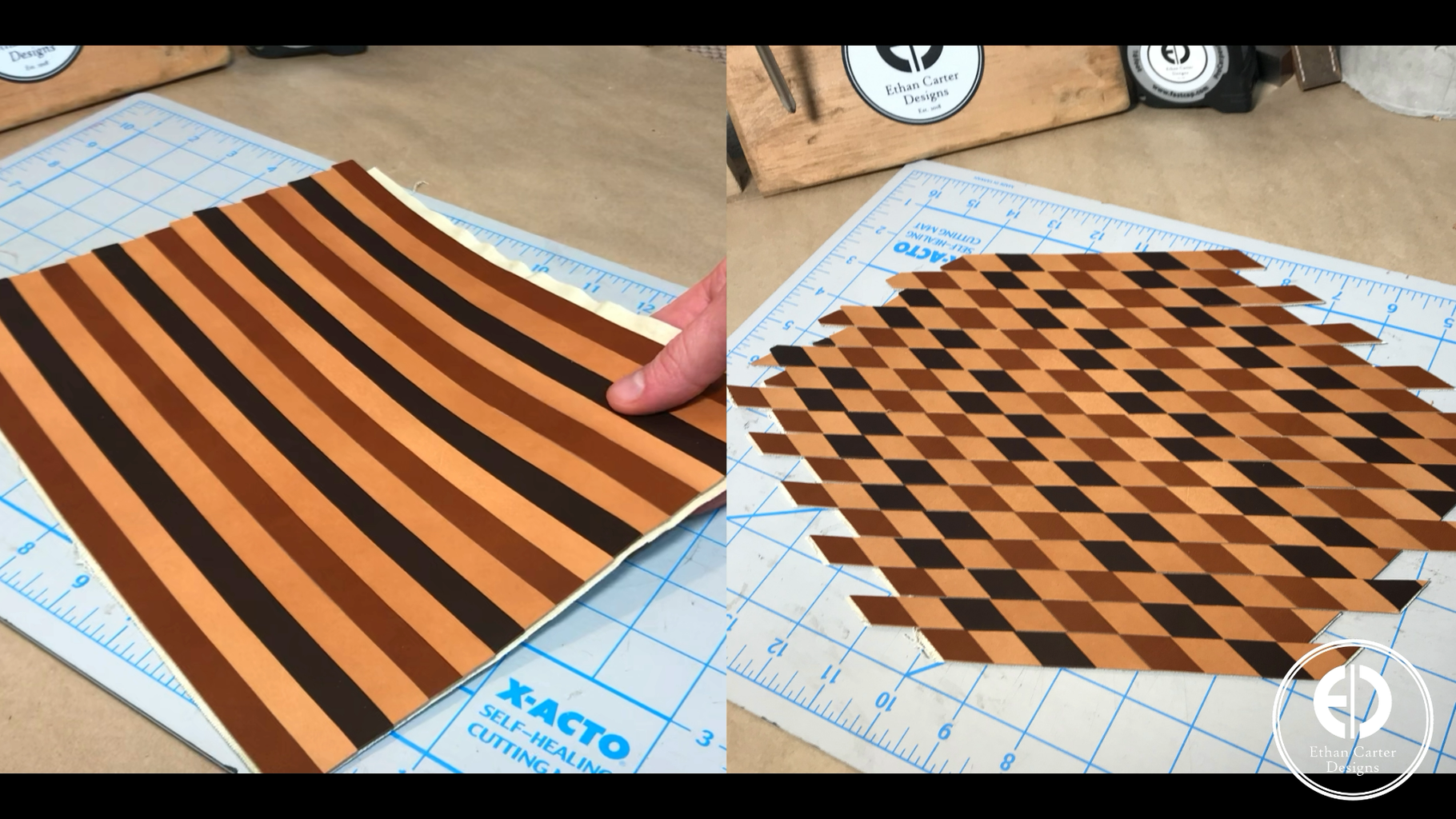 Creating the Patterned Leather Panel