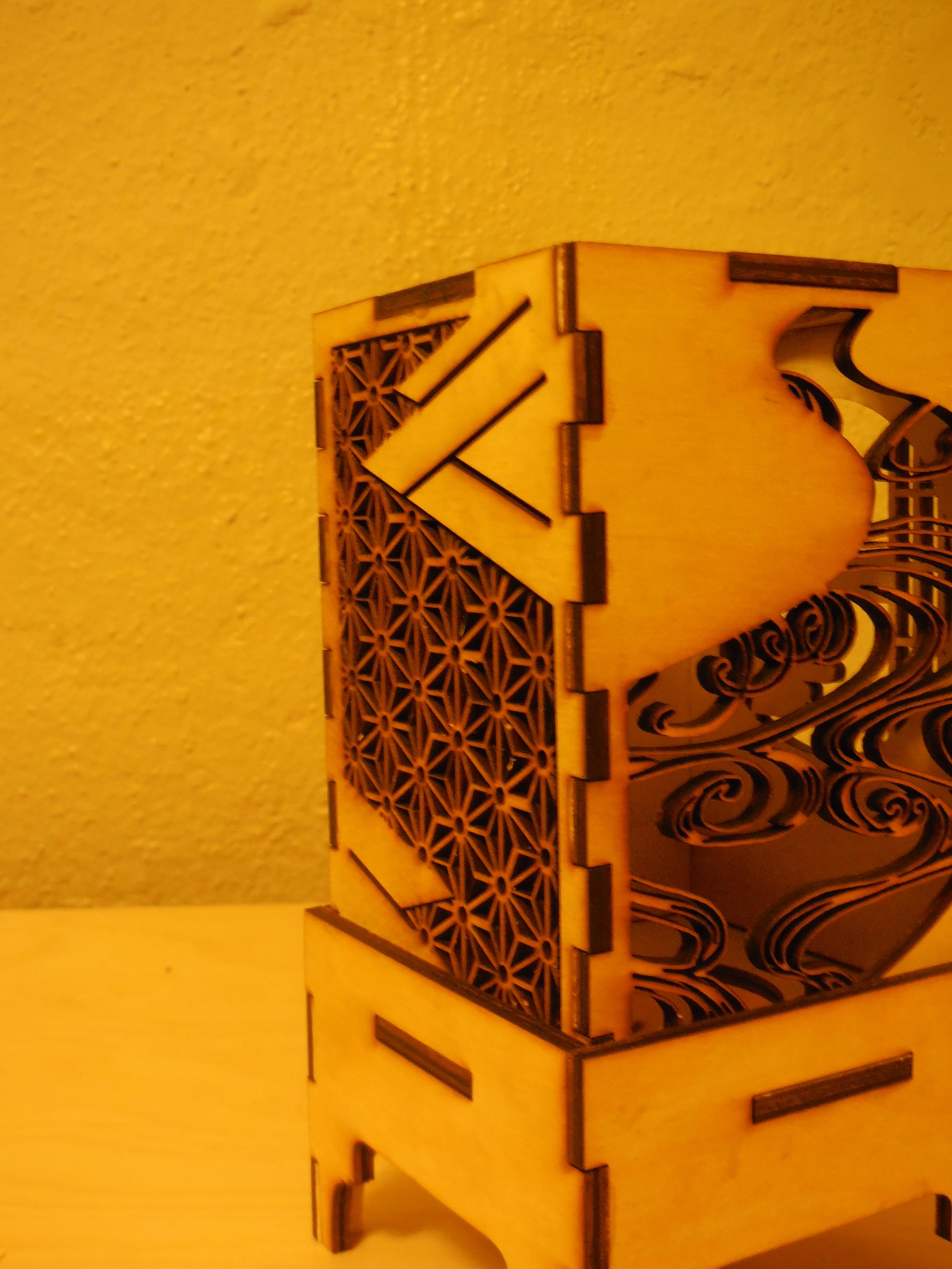 Japanese design lamp shade