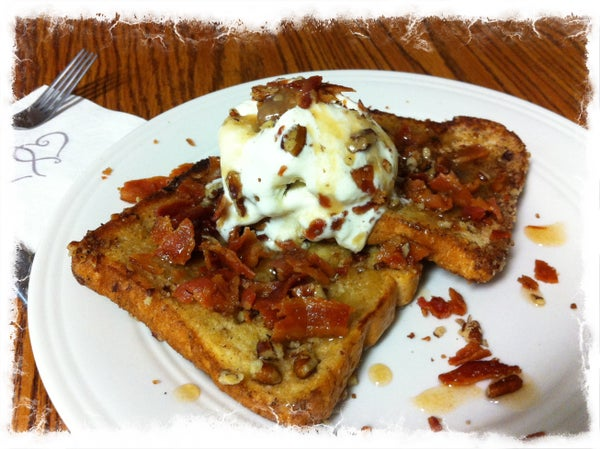 Bacon Pecan French Toast With Bacon Carmel Sauce