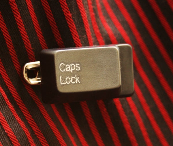 Live Life Louder With a CAPS LOCK BADGE