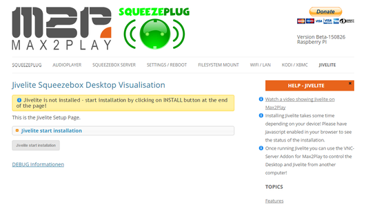 Use Max2Play Extensions to Set-up and Install the Display and Visualization