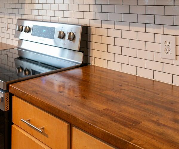 DIY Ikea Butcher Block Countertops