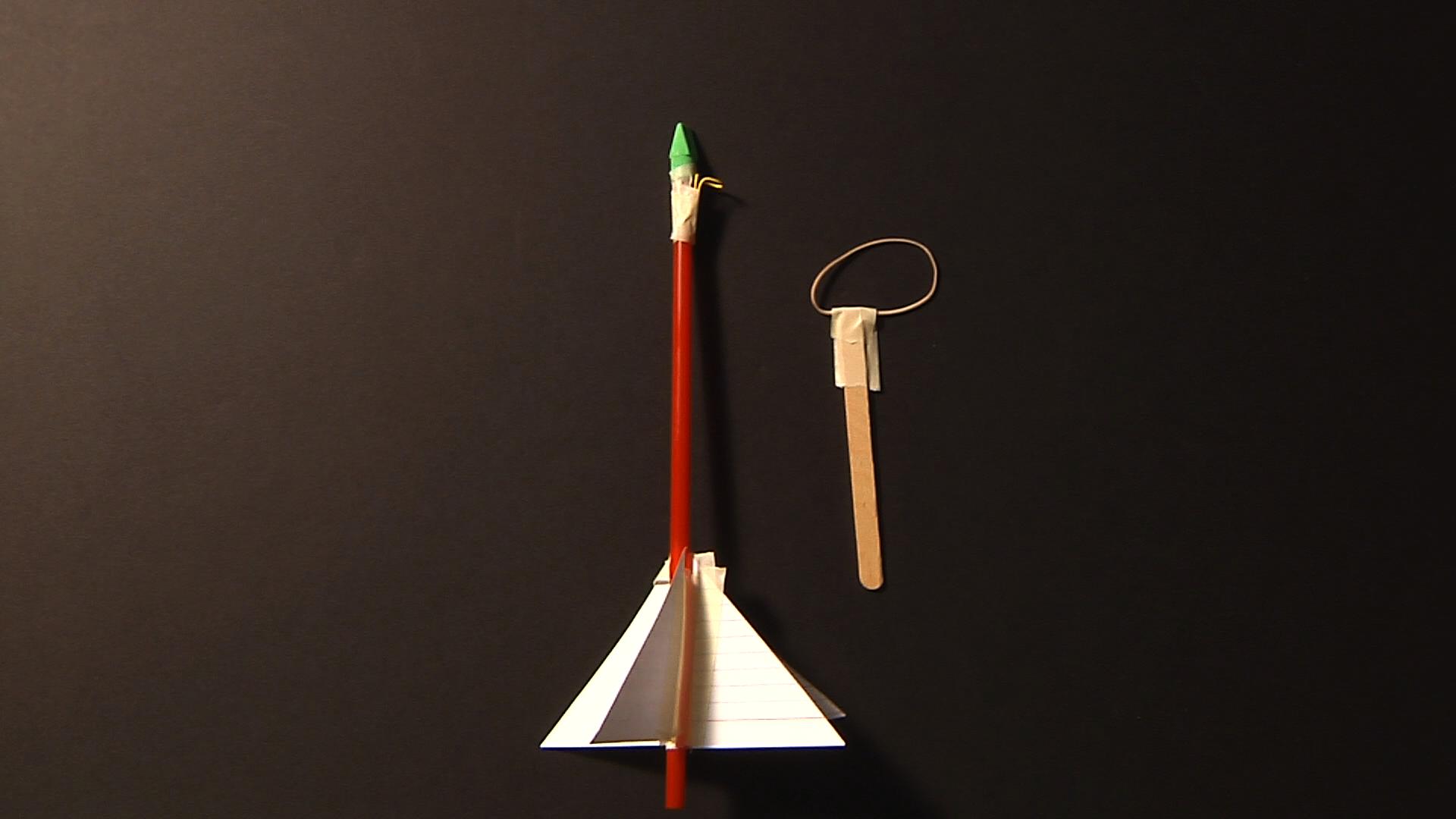 Rubberband Slingshot Rocket