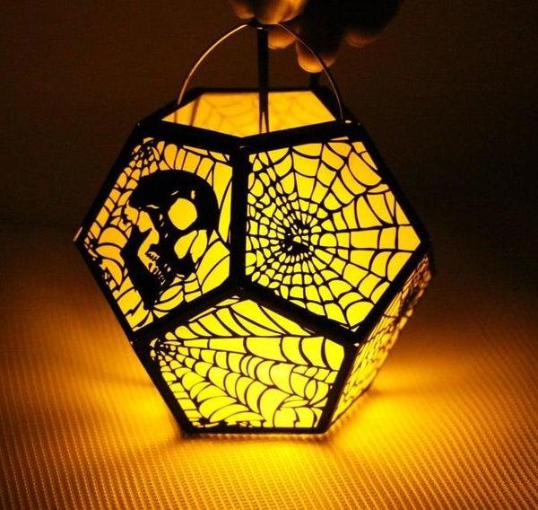 Laser Cut Spooky Lantern With Emblaser