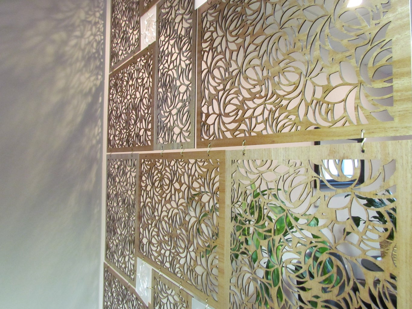 Room Divider Screen With a Laser