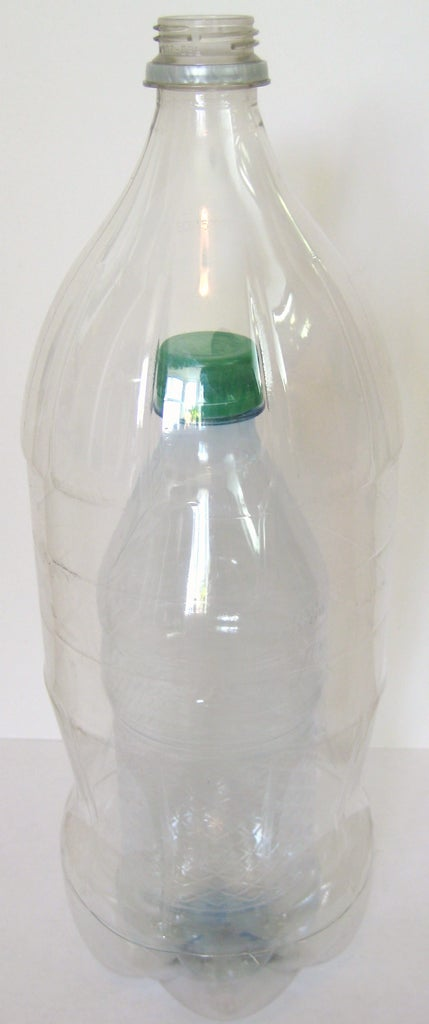 Seal the 2-Liter Bottle Around the Small Bottle