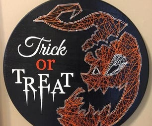 Halloween Trick or Treat String Art Sign