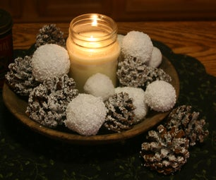 EASY & INEXPENSIVE  DIY Snowballs & Snow Covered Pine Cones