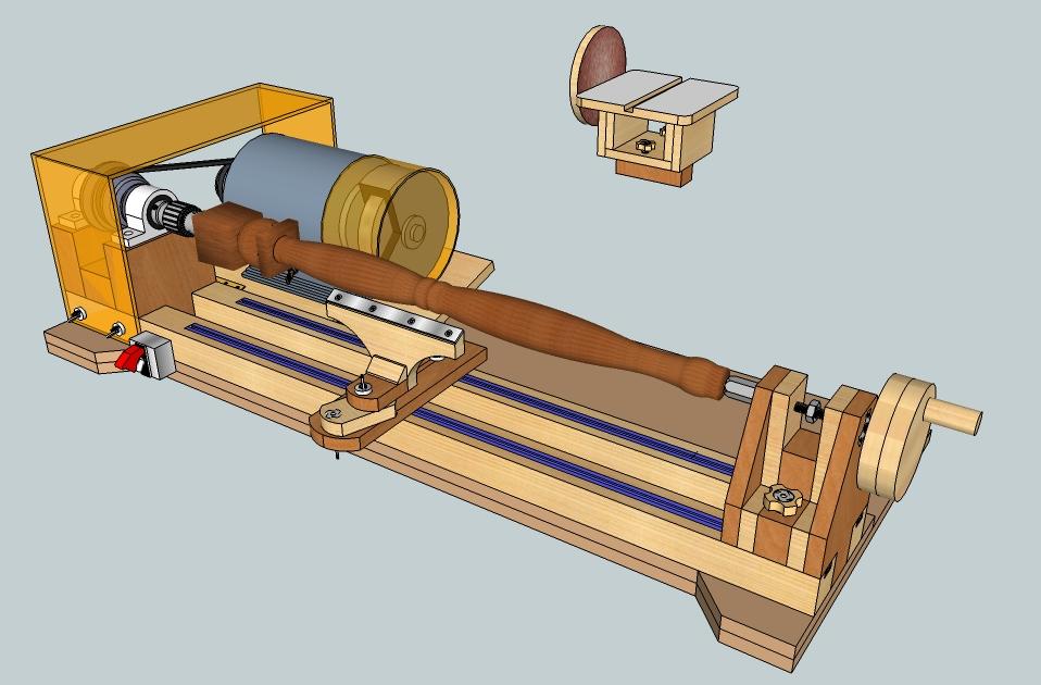 Bench Lathe 3 in 1 (Lathe - Sander - Grinder/Sharpener)