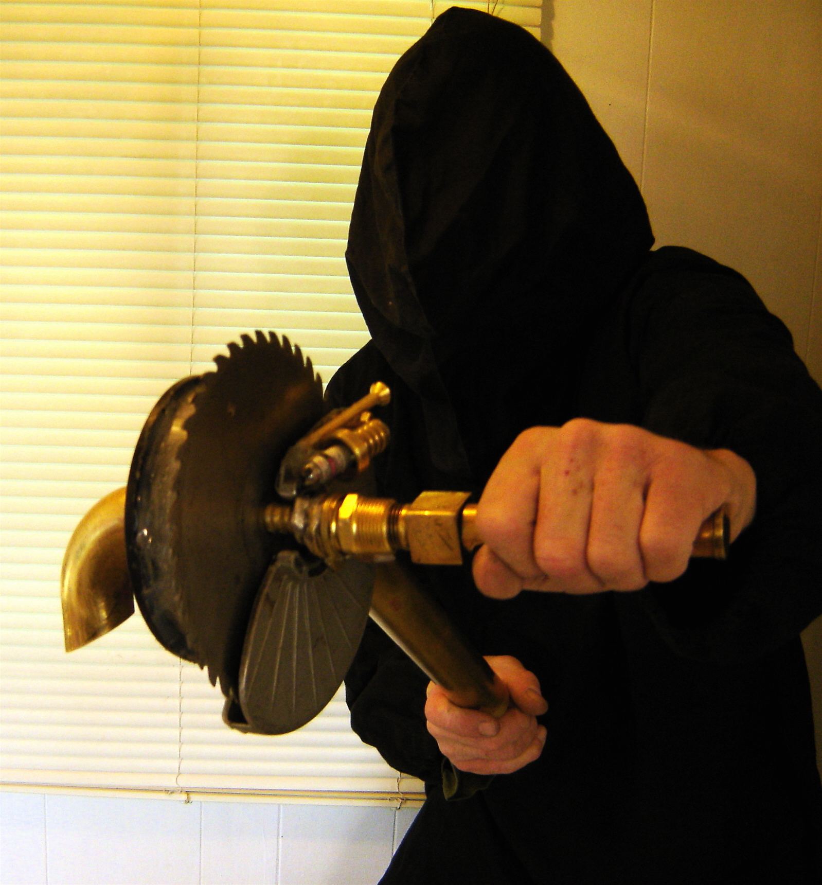 Tesla CD Turbine With Scary Steampunk Laser PumpkinCutter Attachment
