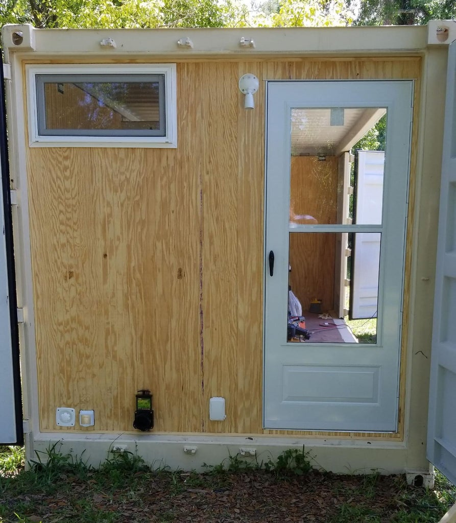 End Wall and Door