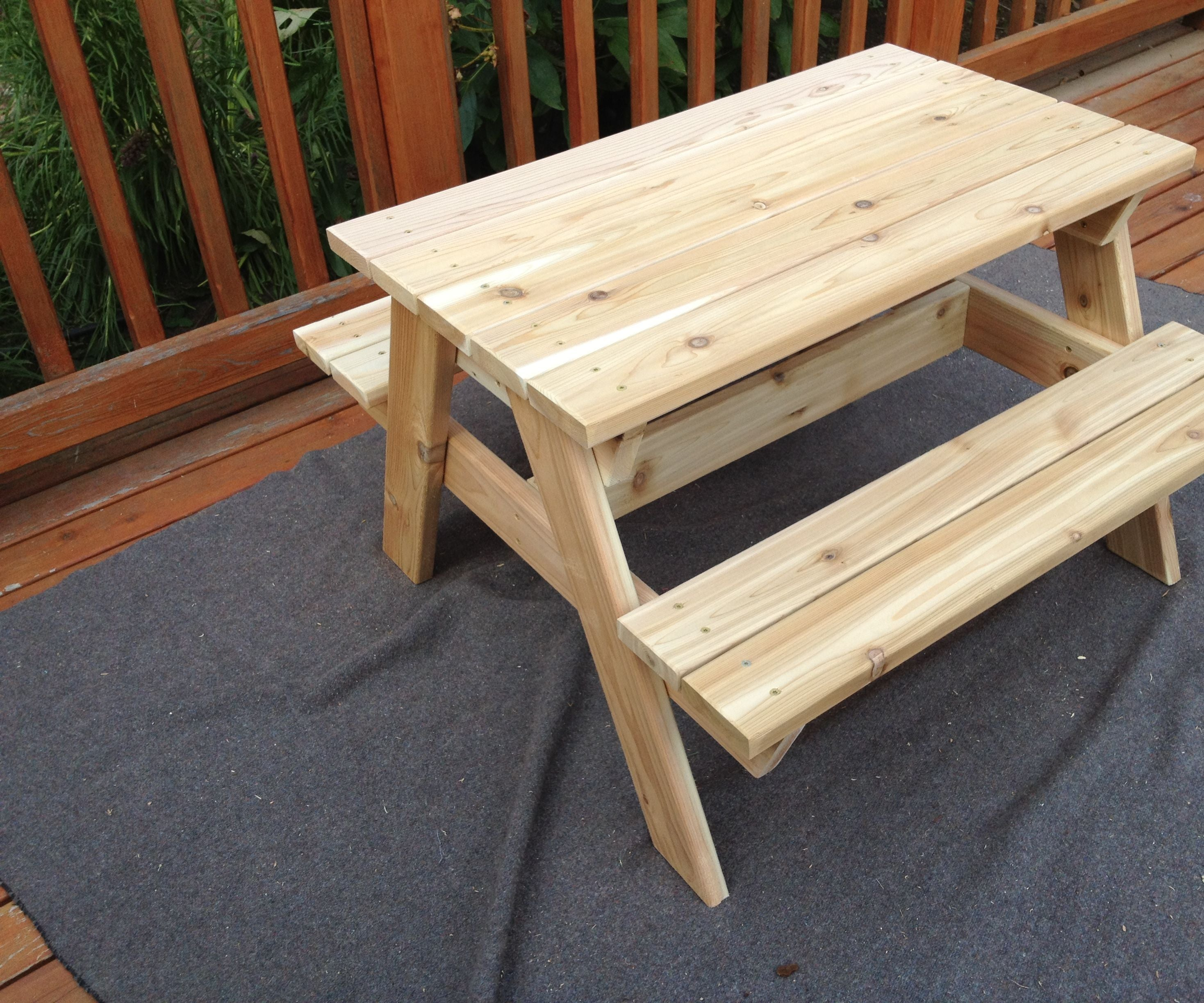 Kids Picnic Table 8 Steps With Pictures Instructables