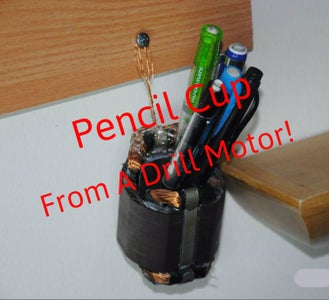 Upcycled Parts Pencil Cup