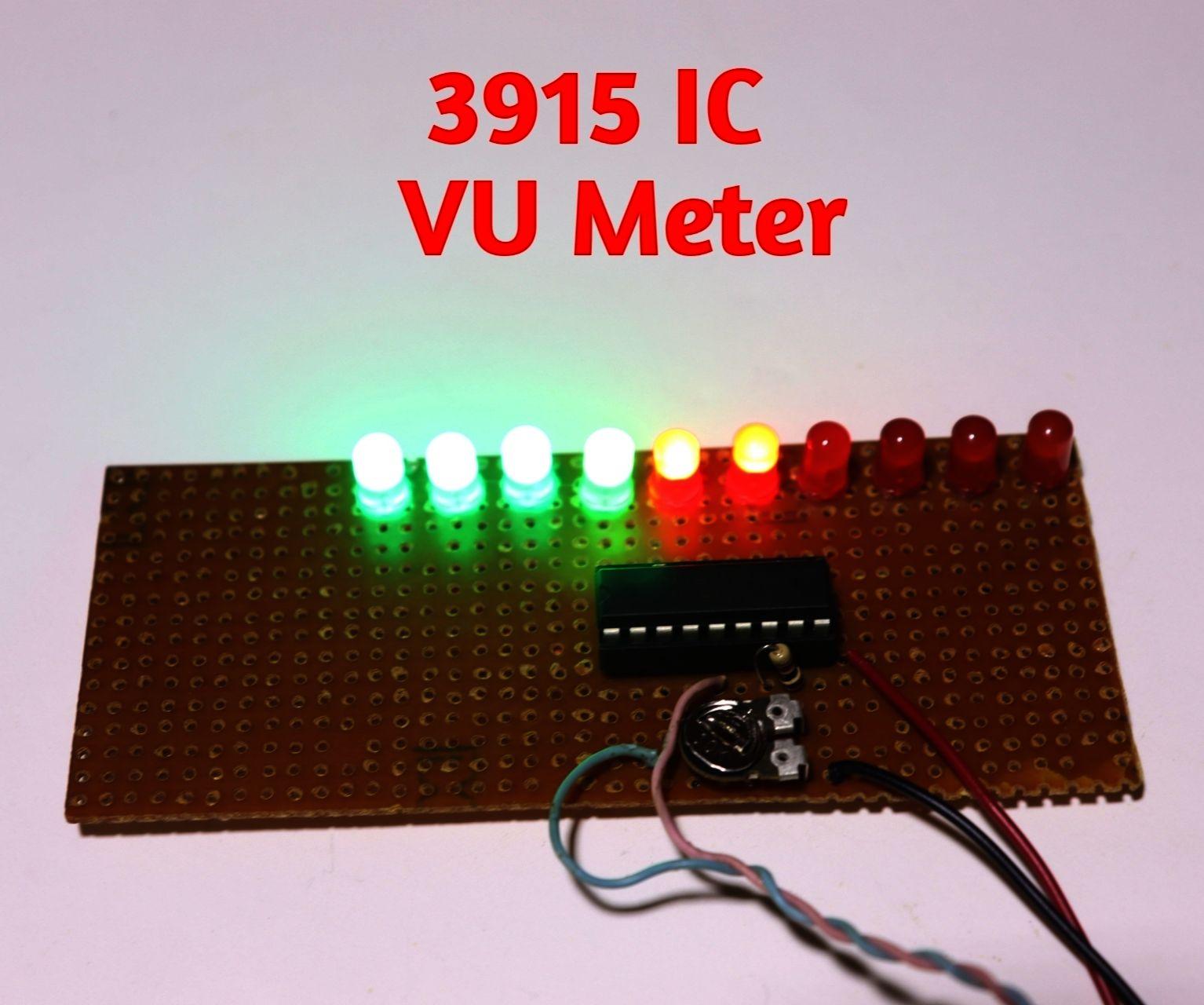 VU Meter Using 3915 IC
