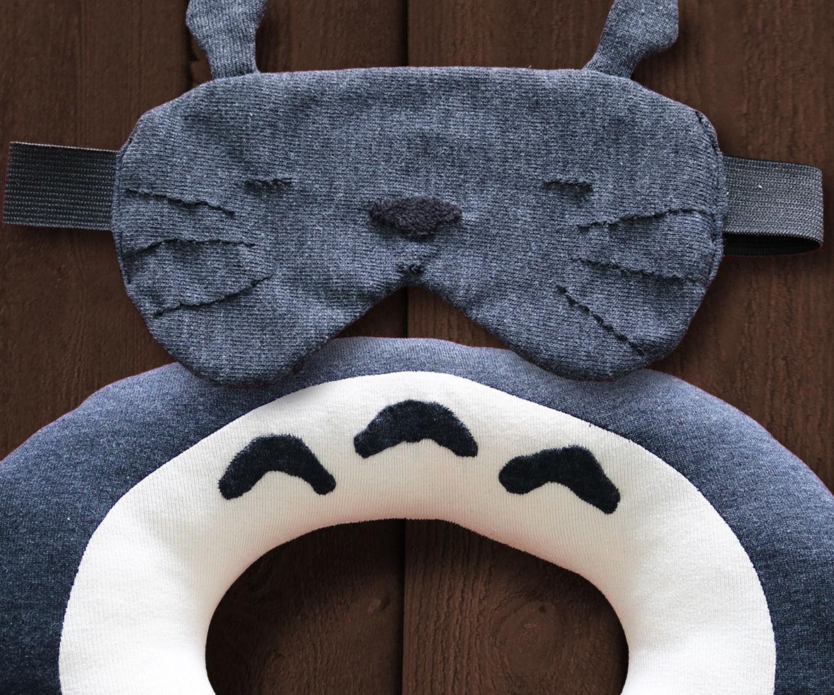 Totoro Travel Pillow & Sleeping Mask