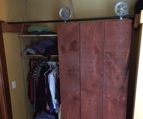 Suspended Makeshift Apartment closet