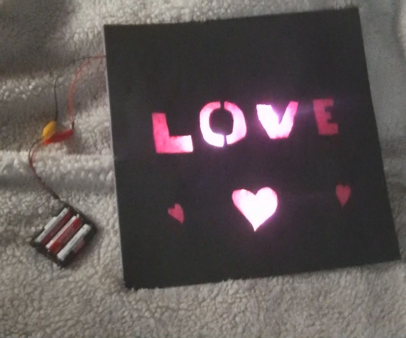 Light Up Valentines Day Card