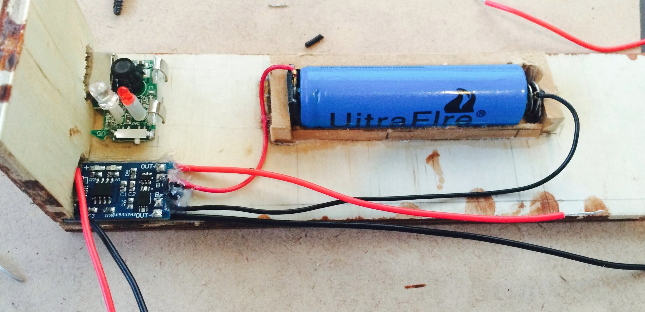 Wire the Battery to the Charging Module