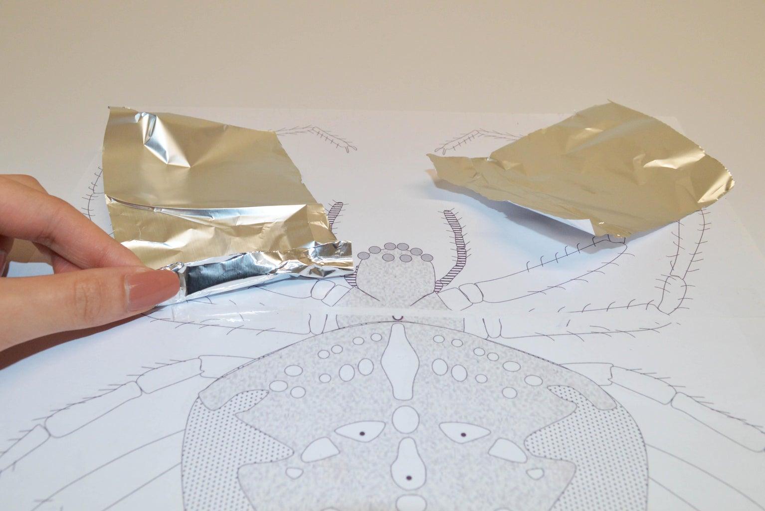 Make Spider Legs Using Foil Paper