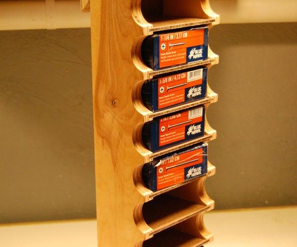 The 1lb Boxed Screw Storage Rack