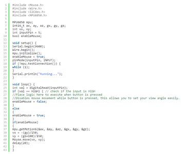 Code for Arduino