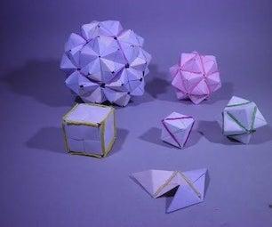 Platonic Solid From Modular Origami