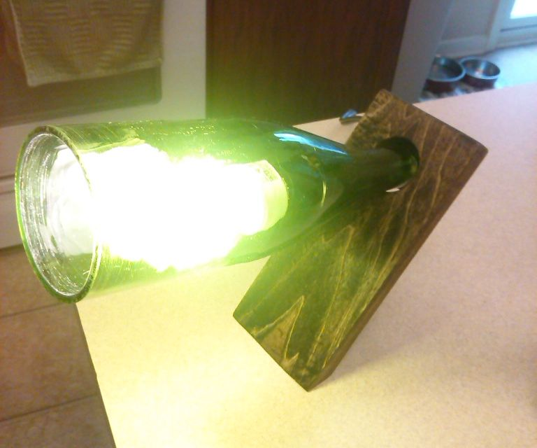 Floating Wine Bottle Lamp