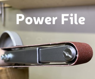 A Power File From an Angle Grinder