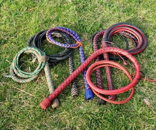 How to Make a 24 Plait 5 Belly Nylon Bullwhip