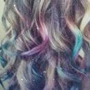 How to Dye hair using EyeShadow