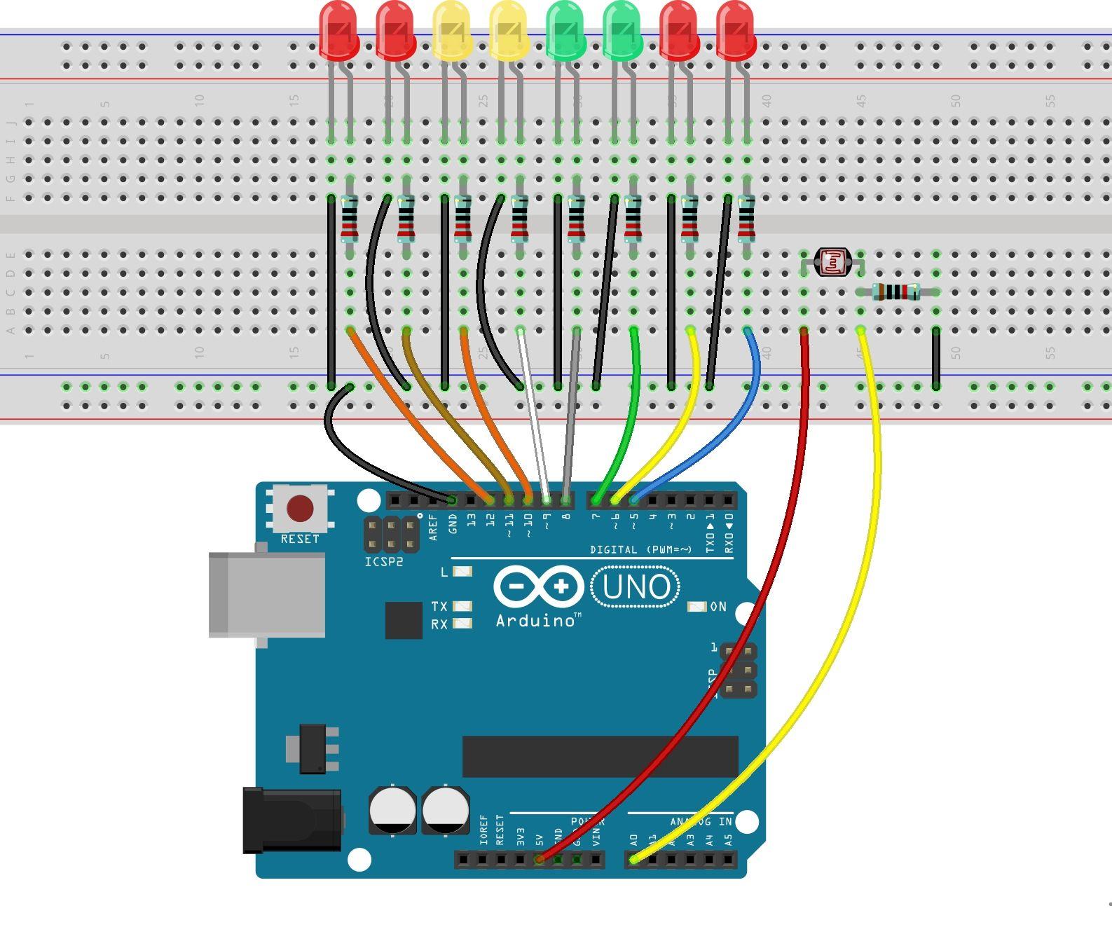 Photoresistor Sensor With Arduino Uno R3