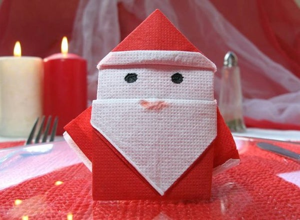 Easy Origami Santa Claus - Video Instructions