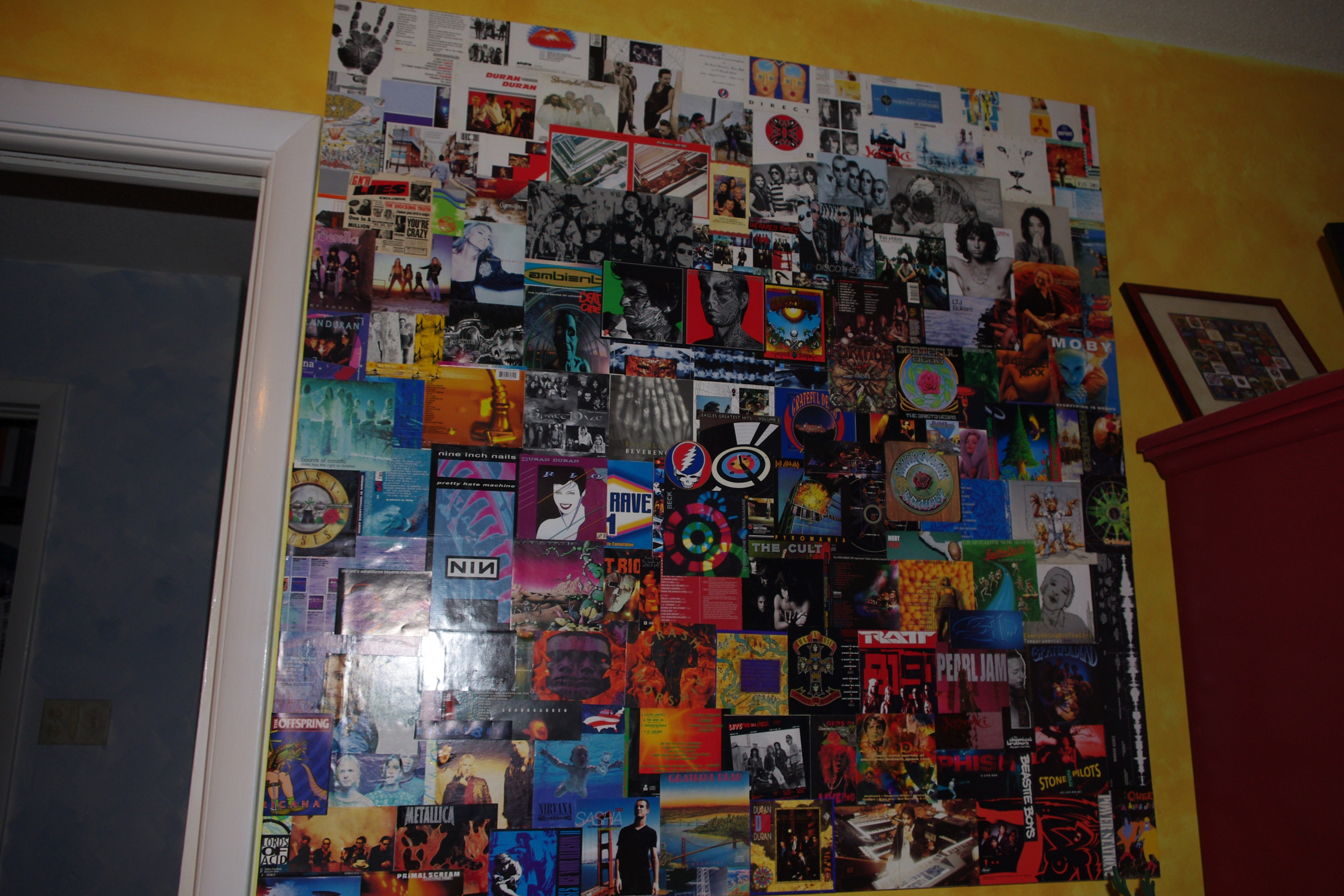 Repurpose Cd Album Cover Art In Giant Wall Collage Instructables