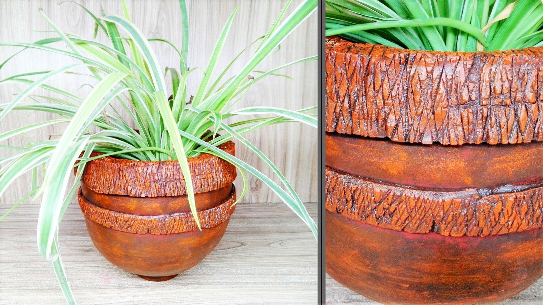 How to Make This Cement Vase   Antique Vase   DIY