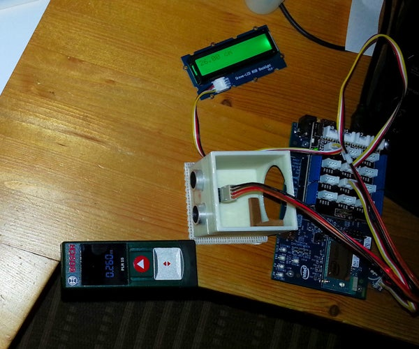 Intel IoT Edison Sonar Rangefinder Distance Meter