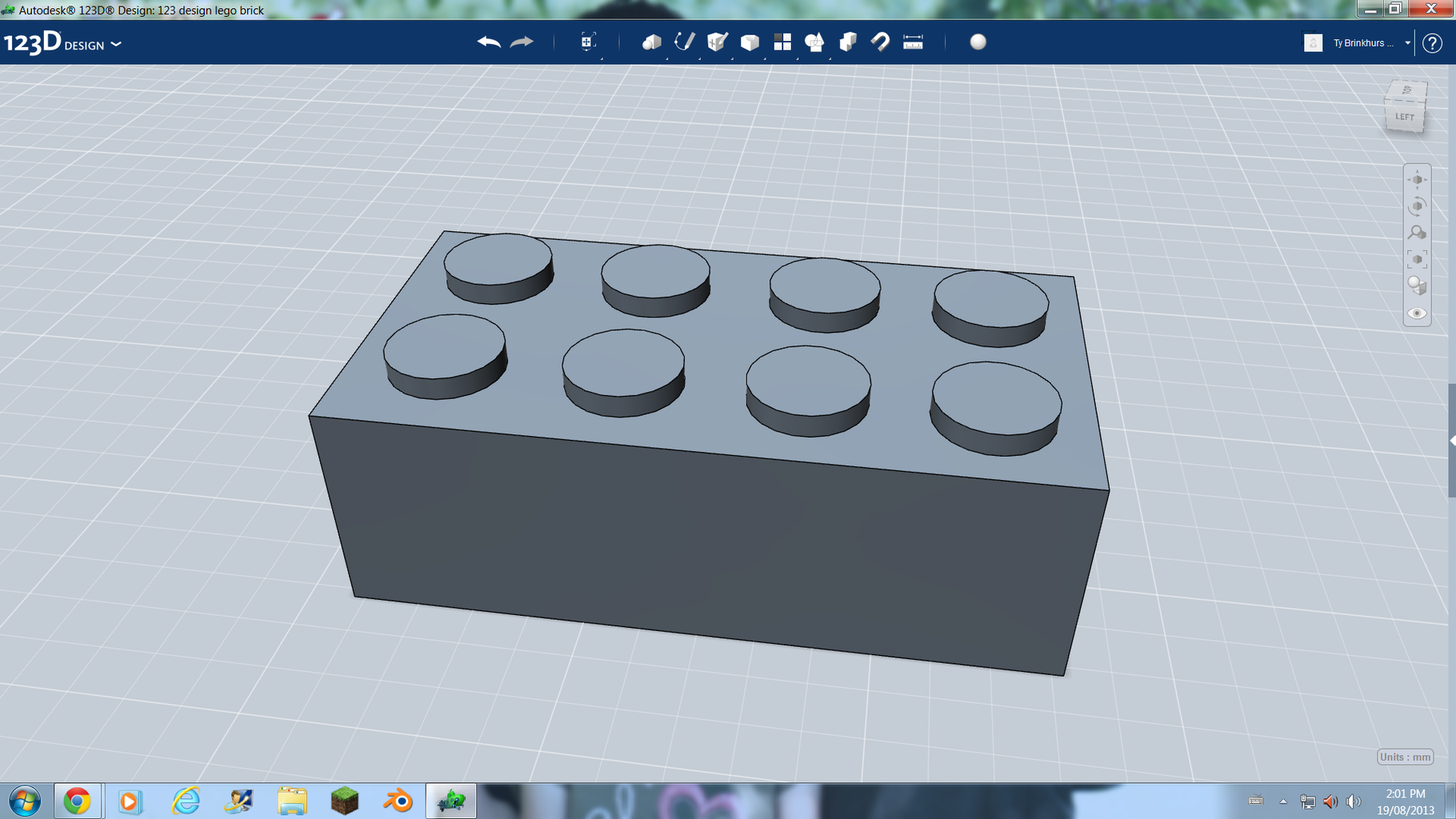123D Design Lego Brick