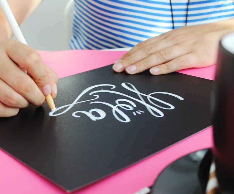 Aprende Como Hacer Chalk Lettering