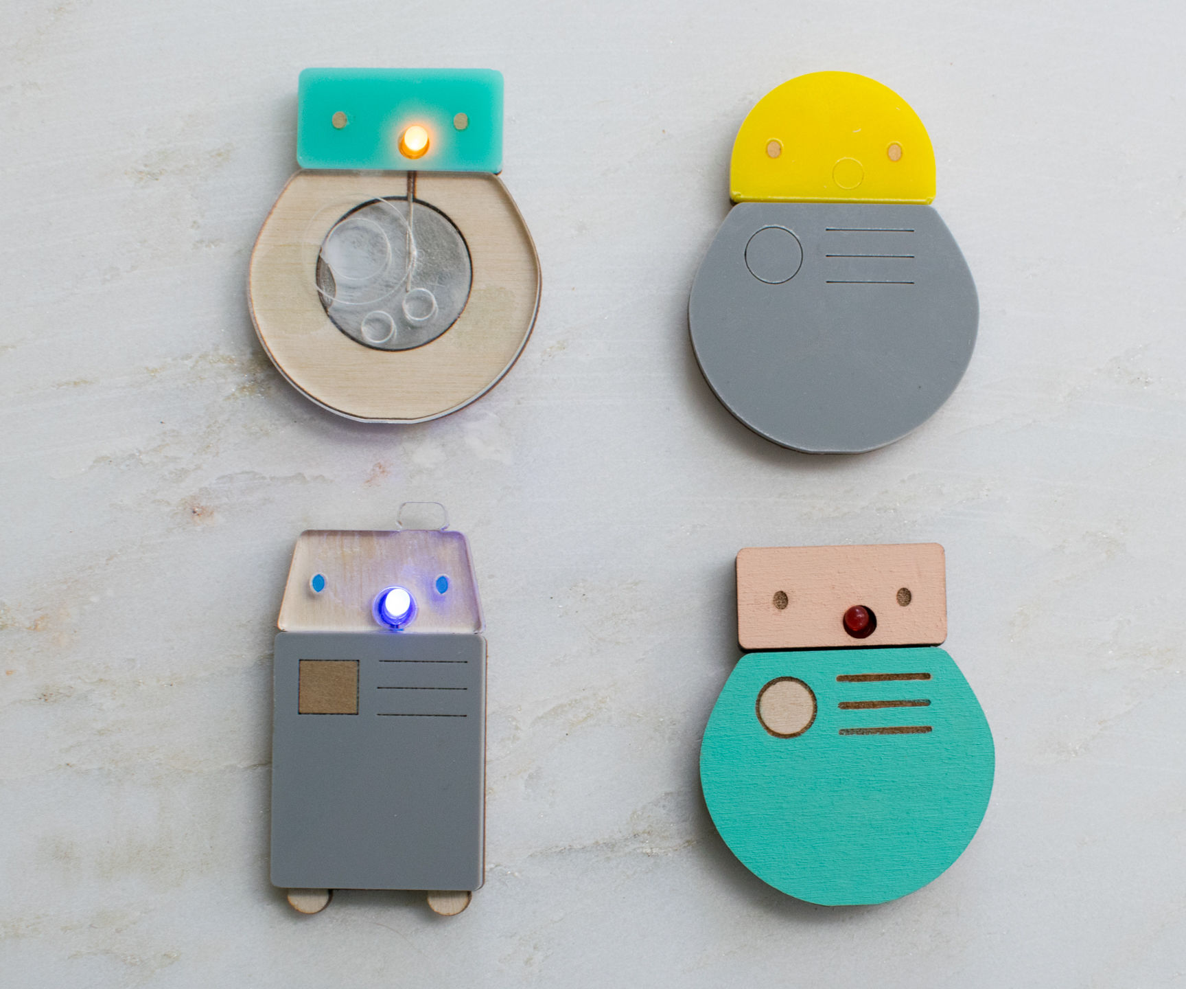 Mix and Match Light Up Droid Pins