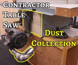 Adding Dust Collection to a Contractor's Table Saw