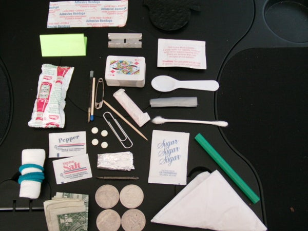 30 Item Ultimate Altoids Tin Urban Survival Kit  (includes Sunglasses, a Deck of Cards, and Ketchup)