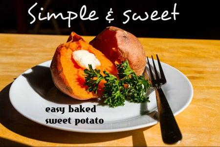 Dead Simple Baked Sweet Potato