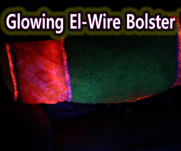 Glowing EL-Wire Pillow Bolster